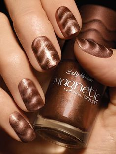 Sally Hansen Magnetic Nail Color in Kinetic Copper.