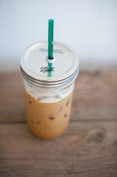 24 oz. Mason Jar Tumbler - Iced Coffee Mason Jar - Canning Jar Drink Tumbler ($11.00) - Svpply