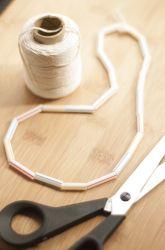 Preschool Patterns Activities: Straw Necklaces