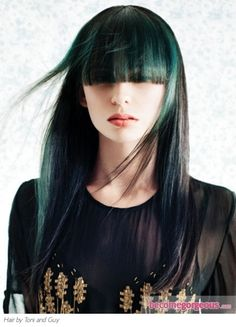 again, my mom would die but this is so pretty. i love that shade of blue. i dont think i wouldve done the bangs though