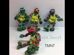 Rainbow Loom Teenage Mutant Ninja Turtles  - Looming WithCheryl - TMNT .  Charms / figures / Gomitas / Gomas. Tutorial is Now on YouTube! Please Subscribe ❤️❤ m.youtube.com/user/LoomingWithCheryl