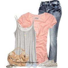 Jeans, Top and Cute Shoes