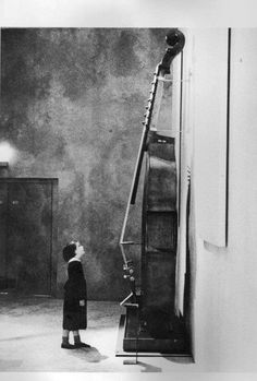 """casabet64:""""Little Girl with Jean-Baptiste Vuillaume's Octobass"""" by Marc Chaumeil"""