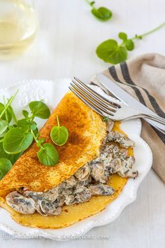 Mushroom Crepes from @Delicieux