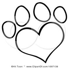 heart paw print tattoo-masterpiece