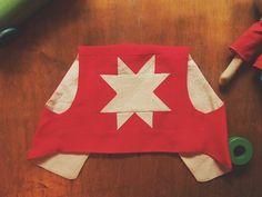 Patchwork linen+cotton vest