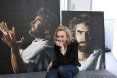 artists, jesus painting, portraits of jesus, dark side, children, daughters, births, child art, akiane kramarik