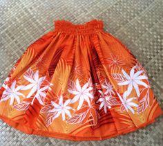 Beautiful Maui sunset women's hula pa'u skirt in by SewMeHawaii, $45.00