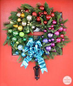 DIY Colorful Christmas Wreath