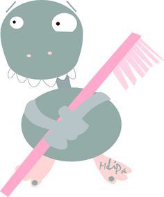 free toothbrush monster png  | MeinLilaPark