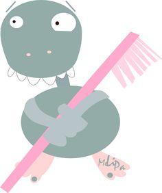 free toothbrush monster png  | MeinLilaPark