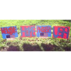 DIY military homecoming signs