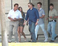 Arnold Schwarzenegger visits son Christopher in hospital