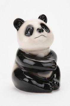 urban outfitters, saving money, panda bank, piggy banks, cutesi thing, cookies, pandas