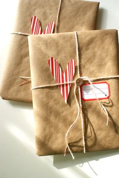 Brown paper packages tied up with string....
