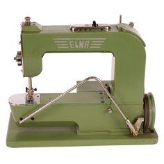 sewing machines, vintag elna, sew machin, elna sew
