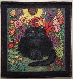 Fish Eye Rugs: Catherine Henning •Featured Artist • Hooked in the Mountains 2012 rug hook, hook rug, rughook, eye rug