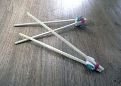 chopsticks for kids - these work GREAT! Helps kids 'fit in' when eating sushi :-)