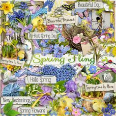 A beautiful Spring/Easter themed scrapbook collection from Raspberry Road designs.