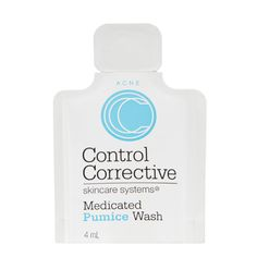 Medicated Pumice Wash is for all skin types either acne-prone or with visible blemishes. Deep refreshing cleansing without irritation or abrasion. Circular polyethylene granules gently but efficiently exfoliate pore-clogging oils and cellular debris while killing bacteria.  @ccorrective