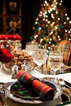 Tartan  #Christmas #party #table
