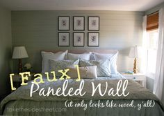 DIY Horizontal Plank Walls Tutorial {Faux Wood Planks!}
