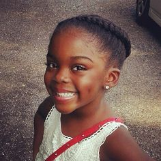 LITTLE GIRL HAIRSTYLE / HAIR DO / BRAID / SCALP BRAID / NATURAL HAIR / LITTLE BLACK GIRL HAIRSTYLE / CHILD / CORN ROLLS / CHOCOLATE HAIR