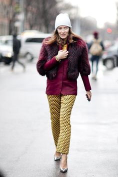 Milan Fashion Week Fall 2013 #streetstyle #mfw Rocking complimentary colours #fashion #style #inspiration #women