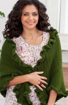 Free Knitting Pattern - Women's Shrugs, Wraps & Capes: Kate's Shawl