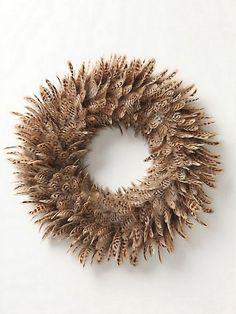 holiday, decor, featherwreath, idea, craft, feather wreath, feathers, christma, wreaths