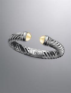 David Yurman | Women | Bracelets: Waverly Bracelet, Gold Dome, 10x5mm