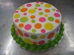 Polka dot birthday cake