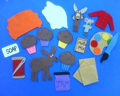 If You Give a Moose a Muffin Childrens Flannel Board Felt Set / http://www.etsy.com/listing/35343675/if-you-give-a-moose-a-muffin-felt