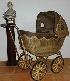 antique baby carriage | Lloyd Loom Products Antique Baby Carriage Patent 1917 | eBay