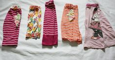 repurposed tees --> pint sized pajamas