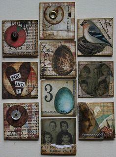 Grungey collage inchies