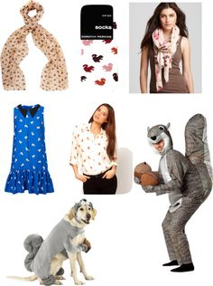 Squirrel Clothing everything from scarves to dresses, to a squirrel costume!