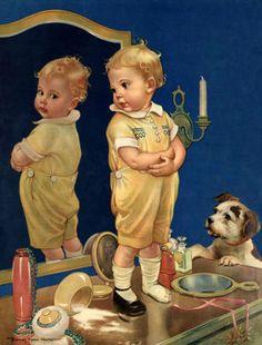 franc tipton, pant, vintag art, pair, children, babi, franci tipton, vintag illustr, frances tipton hunter