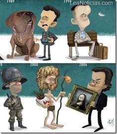 En Caricatura: Los momentos más emblemáticos de actores famosos - http://www.leanoticias.com/2013/01/23/en-caricatura-los-momentos-mas-emblematicos-de-actores-famosos/