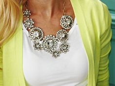 Perfect fall bib statement necklace