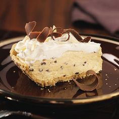 pumpkin chip cream pie  no one can have enough pumpkin pie recipes.