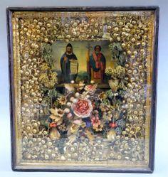 Klosterarbeit mit Ikone, bulgarisch, 19. Jh., #1623/I