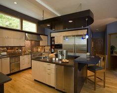 Great kitchen!  Love the Red Oak hardwood floors!  Great mix of cabinet colors!