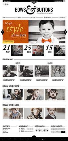Bows & Buttons -Show Off Your Inner Adult. by Harjeet Gill, via Behance   #it #web #design #layout #userinterface #website #webdesign <<< repinned by www.BlickeDeeler.de Follow us on www.facebook.com/BlickeDeeler