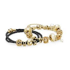 "Pandora MOA - Golden Elegance Inspirational Bracelets (http://www.pandoramoa.com/golden-elegance-inspirational-bracelets/) - what you buy if you strike it rich!     ""Pandorabracelet"