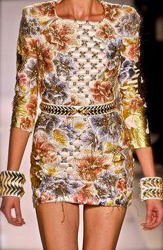 Balmain S/S 2012 #jacket #balmain #womensfashion #style #fashion #look #blazer #details #luxury #luxe #highend #trend #dress #details