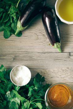 crispy eggplant + harissa flatbread with greens » The First Mess