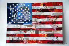 Spirited American Flag Collage