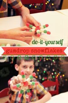 These gumdrop snowfl