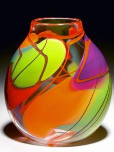 glass vase, by Robinson Scott Glass Studio